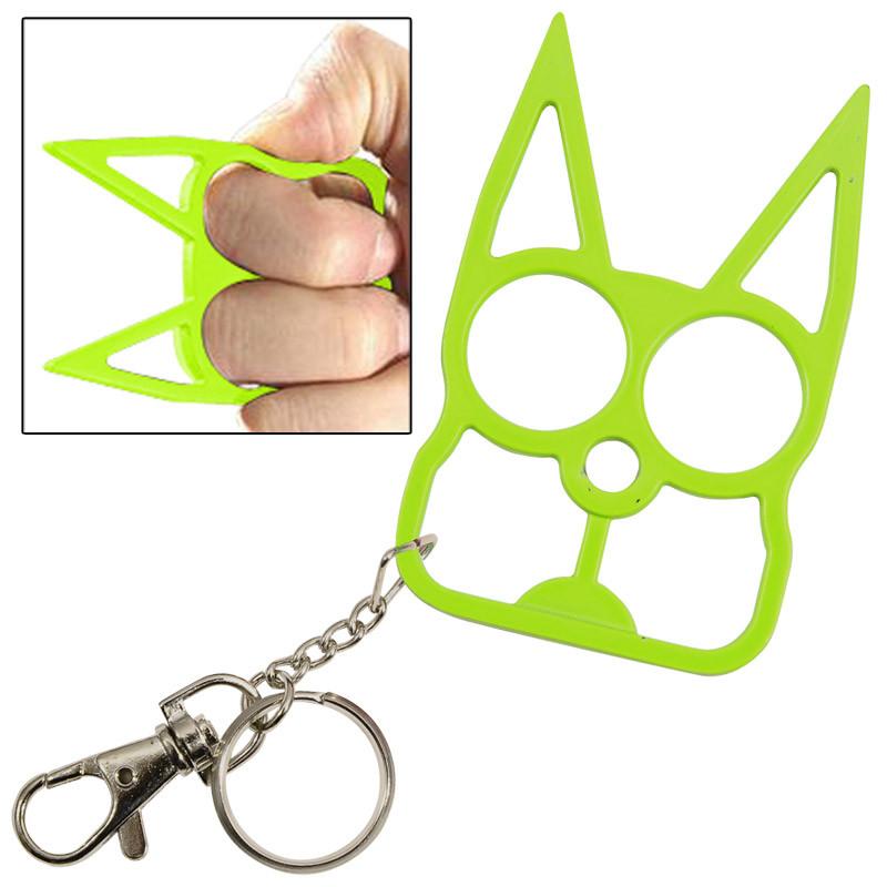 Cat Self Defense Key Chain Neon Green Keyscutlery Com