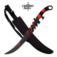 "•25"" OVERALL •17"" 3MM THICK BLADE, STAINLESS STEEL •BLACK PAINTED BLADE •RED CORD WRAPPED HANDLE •INCLUDES 600D NYLON SHEATH"