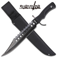"SURVIVOR FIXED BLADE KNIFE 17"" OVERALL"