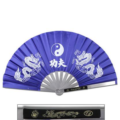 Tessen-Jutsu Iron Fan Weapon Dragon Blue