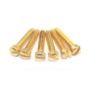 "5-40 X 1 1/4"" Gold Plated Fillister Head Screw"