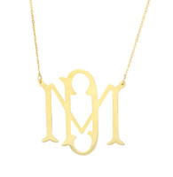 Bae Cut Out Monogram Necklace