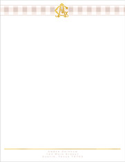 Monogram Chic Letterhead - pack of 25 sheets