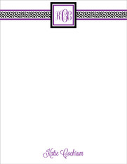 Preppy - Greek Key Digital Letterhead (more colors)