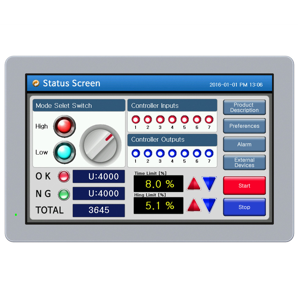 human machine interface hmi 10 2 water resistant panel pc