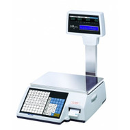 CAS CL5000R-60 lbs Label Printing Scale/ Pole Display Included