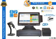 Premium Supermarket POS System With VFD Customer Display