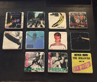 The best Rock Bands Album Covers Tile Coaster 4 Set