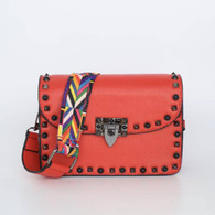 Guitar Strap Studded Bag Red