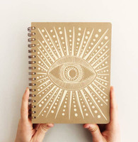 Golden eye,  evil eye notebook