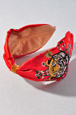 Tiger Queen Embroidered Headband