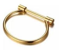 Gold Plated Screw Bracelet