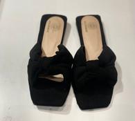 Goldenbar Suede square sandals