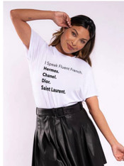 I speak Fluent French classic Tee white