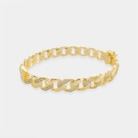 Gold Chain bracelet with rhinestones