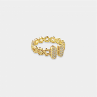 Gold ring with dainty flowers