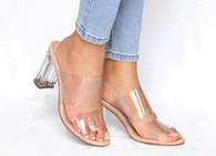 Goldenbar Lucite shoes