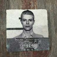 David Bowie Mugshot Tile Coaster