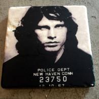 Jim Morrison MugShot Tile Coaster