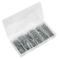Sealey AB001SP Split Pin Assortment 555pc Small Sizes Imperial & Metric