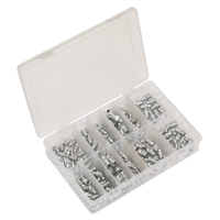 Sealey AB009GN Grease Nipple Assortment 130pc - Metric, BSP & UNF
