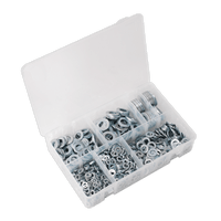 Sealey AB055WA Flat Washer Assortment 1070pc M5-M16 Form A Metric DIN 125
