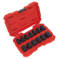 "Sealey AK5616M   Impact Socket Set 13pc 1/2""Sq Drive Lock-Onƒ?› 6pt Metric"