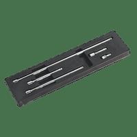 """Sealey AK6341   Extension Bar Set 5pc 3/8""""Sq Drive"""