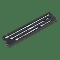 """Sealey AK6351   Extension Bar Set 5pc 1/2""""Sq Drive"""