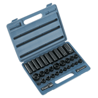 "Sealey AK681   Impact Socket Set 32pc Standard/Deep 3/8"" & 1/2""Sq Drive Metric/Imperial"
