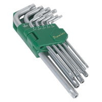 Sealey AK7162 Security TRX-Star Key Set 9pc Long
