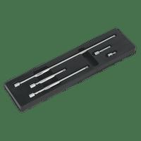 """Sealey AK767   Wobble Extension Bar Set 5pc 3/8""""Sq Drive"""
