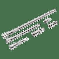 "Sealey AK7690   Wobble/Rigid Extension Bar, Adaptor & Universal Joint Set 6pc 3/8""Sq Drive"