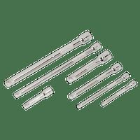 """Sealey AK770   Wobble/Rigid Extension Bar Set 7pc 1/4"""", 3/8"""" & 1/2""""Sq Drive"""