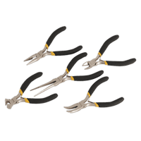 Sealey AK937 Mini Pliers Set 5pc Ni-Fe Finish