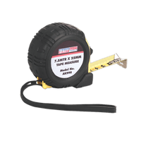 Sealey AK990   Rubber Measuring Tape 7.5m(25ft) x 25mm Metric/Imperial