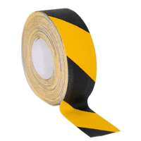 Sealey ANTBY18 Anti-Slip Tape Self-Adhesive Black Yellow 50mm x 18m