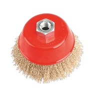 Sealey CBC100 Brassed Steel Cup Brush ??100mm M14 x 2mm