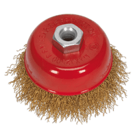 Sealey CBC752 Brassed Steel Cup Brush ??75mm M14 x 2mm