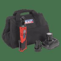 "Sealey CP1202KIT   Ratchet Wrench Kit 3/8""Sq Drive 12V Li-ion - 2 Batteries"