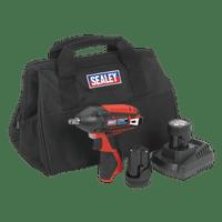 "Sealey CP1204KIT   Impact Wrench Kit 3/8""Sq Drive 12V Li-ion - 2 Batteries"
