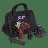 Sealey CP1205KIT   Cordless Polisher Kit ??71mm 12V - 2 Batteries