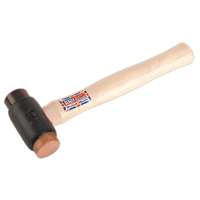 Sealey CRF25   Copper/Rawhide Faced Hammer 2.25lb Hickory Shaft