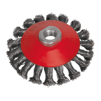 Sealey CWB100 Conical Wire Brush ??100mm M10 x 1.5mm