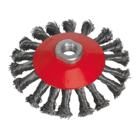 Sealey CWB115 Conical Wire Brush ??115mm M14 x 2mm
