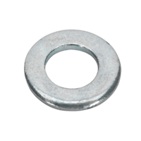 Sealey FWA49 Flat Washer M4 x 9mm Form A Zinc DIN 125 Pack of 100