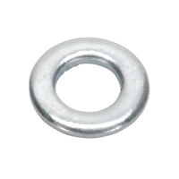 Sealey FWA510 Flat Washer M5 x 10mm Form A Zinc DIN 125 Pack of 100