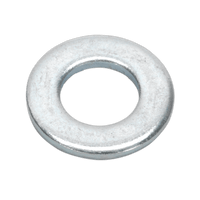 Sealey FWA817 Flat Washer M8 x 17mm Form A Zinc DIN 125 Pack of 100