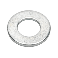 "Sealey FWI105 Flat Washer 1/4"" x 9/16"" Table 3 Imperial Zinc BS 3410 Pack of 100"