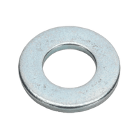 "Sealey FWI106 Flat Washer 3/16"" x 7/16"" Table 3 Imperial Zinc BS 3410 Pack of 100"